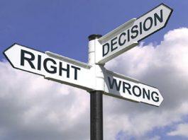 beslutning