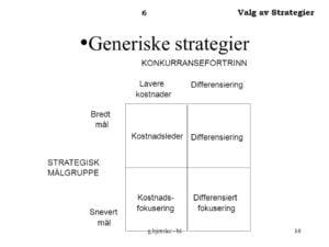 <b>Kostnadsleder strategi</b>