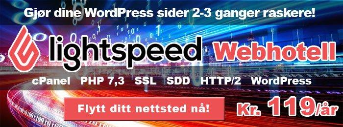 Lightspeed webhotell