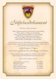 stiftelsesdokument