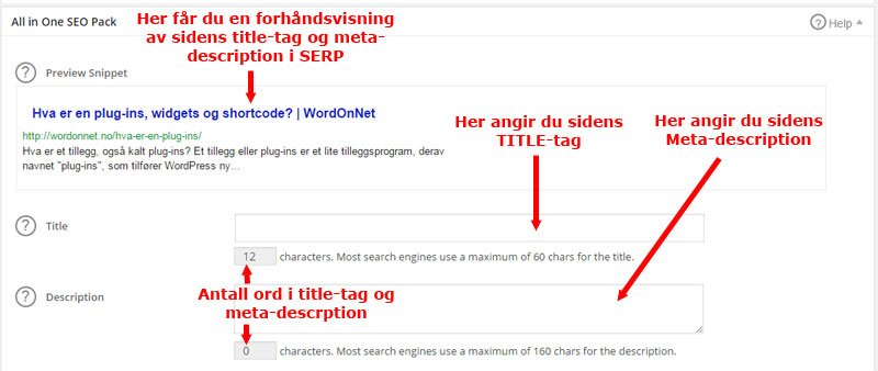 Angivelse av title-tag i WordPress